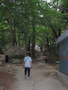 hiking on geumgang mountain in pusan